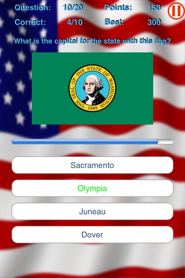 Screenshot jCapitals USA